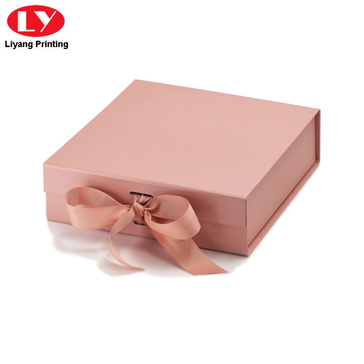 Rose Gold Ribbon Box
