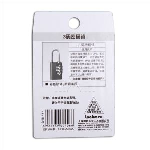Zinc alloy combination luggage lock