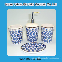 Handmade 4 pcs of ceramic bathroom decorations