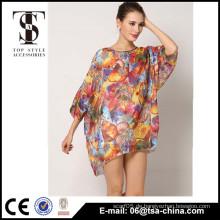 2016 New Floral Design Frauen Beachwear Kleider