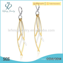 Hot selling 22 carat gold leaf nice earrings for girls