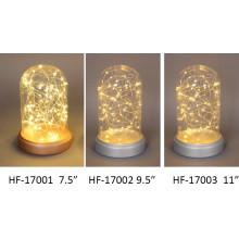 Decoración de Navidad Artesanía de cristal ligero con la secuencia de cobre LED para el arte de la pared (9101)