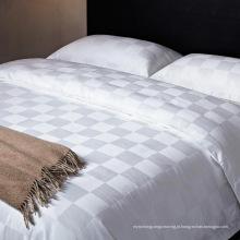 Satin Check Hotel Algodão Roupa de cama com edredão Set (WS-2016210)