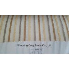 Nouveau tissu de rideau transparent Organza VoIP à rayures de projet populaire 008294