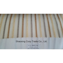 New Popular Project Stripe Organza Voile Sheer Curtain Fabric 008294