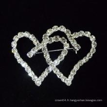 2015 broches en forme de cœur en forme de coeur pour une robe de mariée