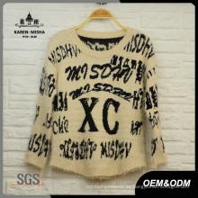 Suéter hecho punto del diseño básico de las mujeres