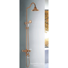 (YL5875-C) China Sanitary Bronze Painting Gold-Plated Bathroom Faucet