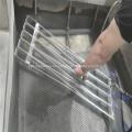 Tubo serpentino de aluminio con entrada y salida