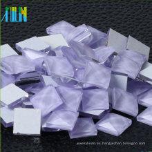 Comercio al por mayor Square Glass Stone Flatback espejo pedrería