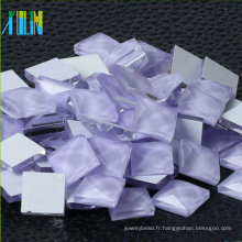 Wholesale Square Glass Glass flatback miroir strass