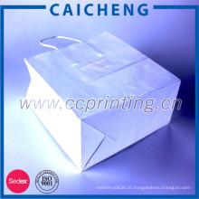 Saco de papel personalizado estilo moda com impressão de logotipo