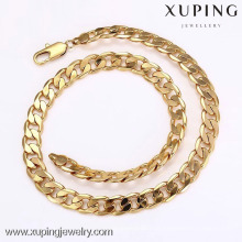 42157 Xuping moda jóias de ouro colar de corrente dos homens sem pedra
