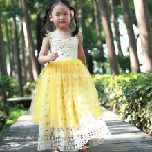 Wholesale floral printed tulle dress for girls