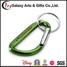 Screen Printing Customized Promotion Climbing Aluminum Carabiner Keychain