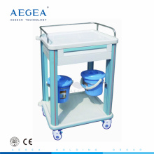 AG-CT006B1 one drawer ABS plastic hospital clinic trolley medical instrument cart for sale