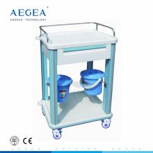АГ-CT006B1 один ящик АБС-пластик больницы вагонетка медицинского инструмента тележка для продажи