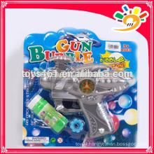Cheap bubble gun toy,plastic bubble gun with light