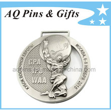 Médaille d'alliage de 3D aucune couleur avec l'électrodéposition de nickel