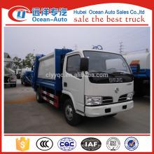 Dongfeng capacidad de 5000 litros de camión de basura, precio de camión de basura para la venta