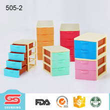 colorful plastic small size desk drawer storage box makeup organizers for sale