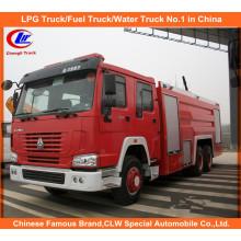 Heavy Duty Sinotruk Sino HOWO Wasser Schaum Tanker Rettung Feuer Kämpfen Trucks 12, 000 Liter zum Verkauf
