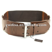 2013 Fashion Women's Brown Elastic And Real Leather Belts