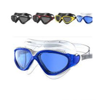 Comfortable Silicone Rubber Swim Goggles with Anti-Fog Lens