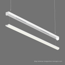 Emergency and 0-10V Dim 4ft 40w suspended/surface mount/T-bar clip LED Linear Strip lighting fixture for office, factory