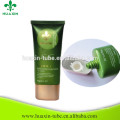 2017 cosméticos personalizados belleza plana oval bb crema suave tubo para la venta