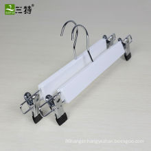 13.5 inch promotion in stock lotus white pant skirt hangers