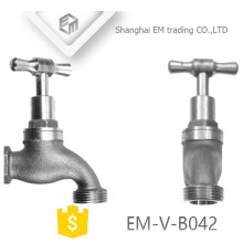 "EM-V-B042 Nickel plated zinc alloy bibcock taps with 1/2"" thread"
