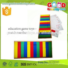 Wooden Coloful Intelligent Toy Education Game Toys- Match Number