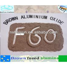 Braunes geschmolzenes Aluminiumoxid des Rohstoffs für refraktäres