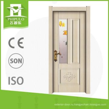 Классические межкомнатные двери заподлицо с дверью из меламина