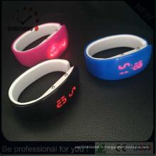 Montre à LED numérique de bracelet de silicone de Madame de mode (DC-1355)