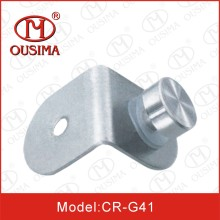 90 Degree Stainless Steel Glass Fitting for Europe with Knob (CR-G39)