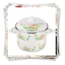 vapor de esmalte impreso con la etiqueta completa y la perilla de la tapa del esmalte del mango del esmalte y etiqueta rosa