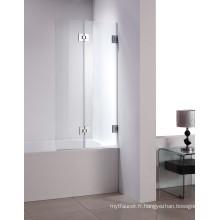 W4 Écrans de baignoire pliants pour salle de bain