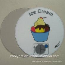 Redonda forma de sorvete impresso PVC Placemat rodada PVC Coaster