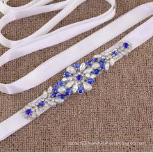 cheerfeel Wedding Diamond newest iron on rhinestone applique for sash belt and headband RH1050
