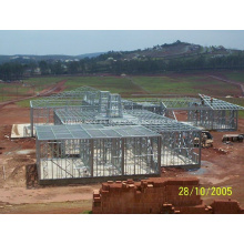 Villa de estructura de acero de calibre de luz de diseño personalizado