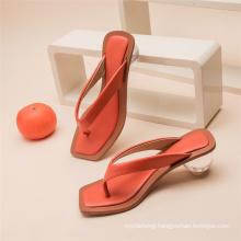 Heels Sandal Summer Outdoor Beach Peep Toe Slides Shoes Ladies Flip Flops