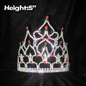 5in Wholesale Pageant Crystal Queen Crowns