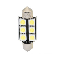 36mm 5050 6SMD White Dome Festoon Canbus
