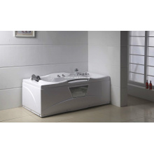 Square White Acrylic Sanitary Whirlpool Massage Bathtub (M-06)
