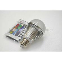 3w led bulb RGB with a remote control
