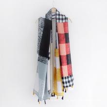 Karierter bedruckter Twill Viskose Lady Fashion Schal (YKY1123)