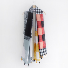Checked Printed Twill Viscose Lady Fashion Scarf (YKY1123)