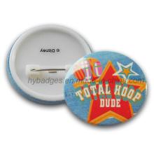 Insigne personnalisé en étain badge imprimé badge coloré (GZHY-MKT-008)